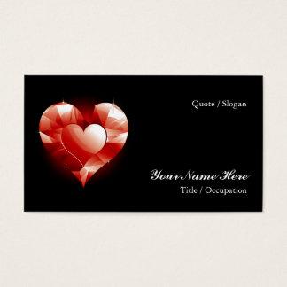 Röd hjärta för Ruby Visitkort