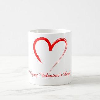 Röd hjärta kaffemugg