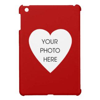 Röd hjärtafotoram iPad mini skydd