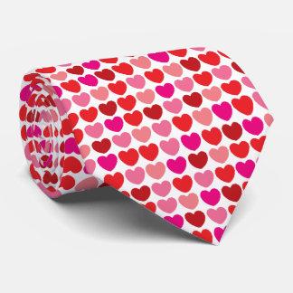 Röd hjärtamönstertie slips