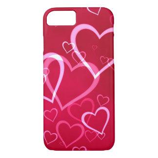 Röd hjärtavalentin iphone case för dag