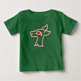 Röd hjort för neon tee shirt