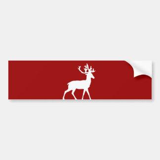 Röd hjortSilhouette - och vit Bildekal