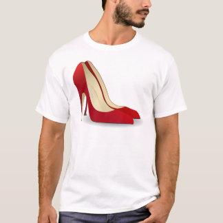 röd högklackar t-shirt