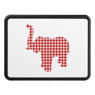 Röd Houndstooth elefant Skydd För Dragkrok