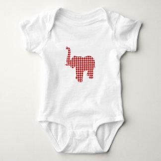 Röd Houndstooth elefant Tee Shirts