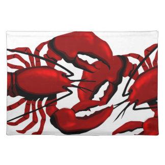 Röd hummerbordstablett bordstablett