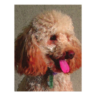 röd hund av zoar brevhuvud