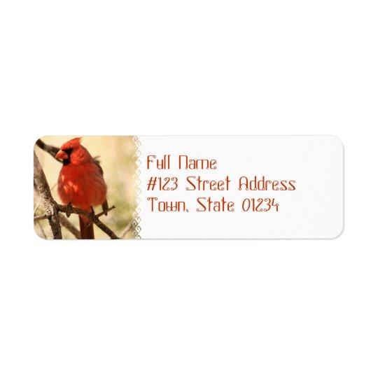 Röd huvudsaklig adressetiketter