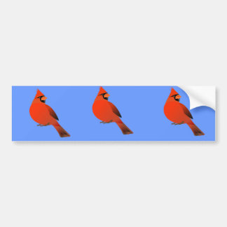 Röd huvudsaklig Male fågel Bildekal