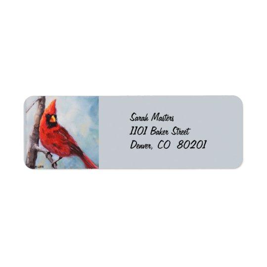 Röd huvudsaklig returadressetikett returadress etikett