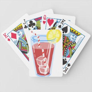 Röd Iced Tea Spelkort