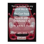 Röd inbjudan för födelsedag för tävlingbil 12,7 x 17,8 cm inbjudningskort