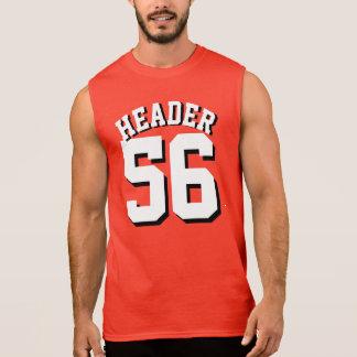 Röd & Jersey för sportar för vitvuxen | design Ärmlös Tröja