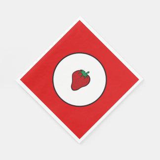 Röd jordgubbe papper servetter