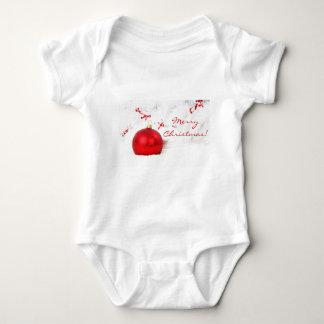 Röd jul och vitgod jul tee shirts