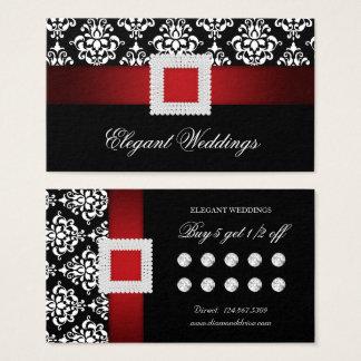 Röd jul som gifta sig broschen för visitkort