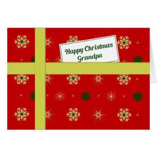 Röd juljordlott för morfar hälsningskort