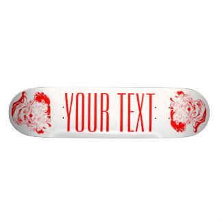 Röd jultomten och vitjulSkateboard Old School Skateboard Bräda 21,6 Cm