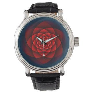 Röd KaleidoscopeRO + din idé Armbandsur