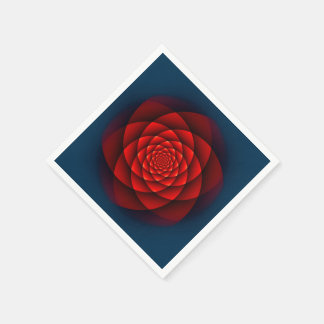 Röd KaleidoscopeRO Servett