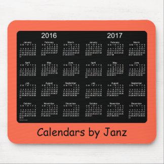 Röd kalender 2016-2017 för tomat av Janz Mousepad Musmatta