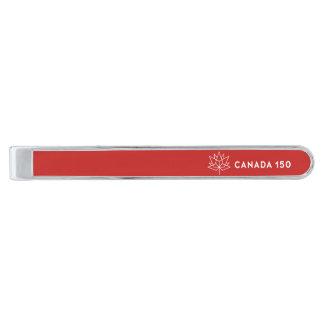 Röd Kanada 150 officielllogotyp - och vit Slipsnål Med Silverfinish