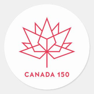 Röd Kanada 150 officielllogotyp - skissera Runt Klistermärke