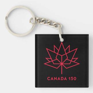 Röd Kanada 150 officielllogotyp - som är svart och