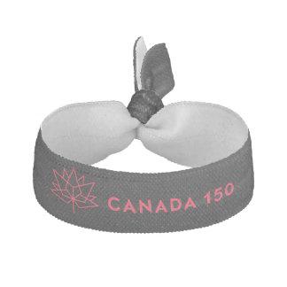 Röd Kanada 150 officielllogotyp - som är svart och Hårsnodd