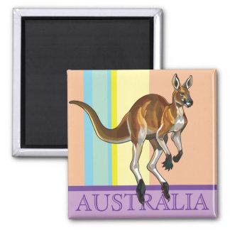 röd känguru magnet