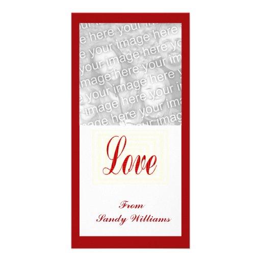 röd kärlek anpassingsbara fotokort