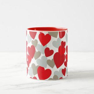 Röd kärlekmugg Två-Tonad mugg