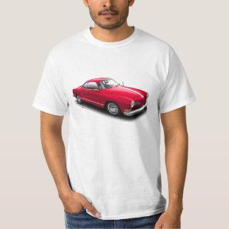 Röd klassiker tyska Ghia på vitT-tröja T-shirts