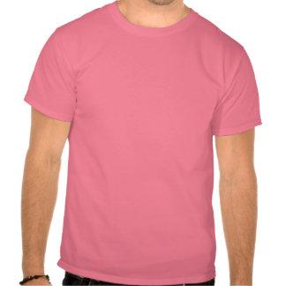 Röd knopp i regna tee shirts