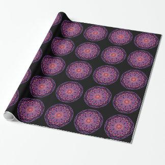 Röd konst för Mandala för rosasvartKaleidoscope Presentpapper