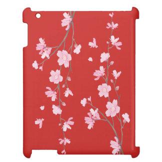 Röd körsbärsröd blommar - iPad mobil skydd