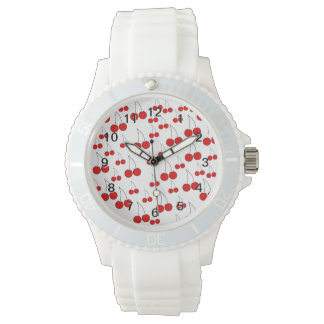 Röd körsbärsröd modell armbandsur