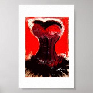 Röd korsettaffisch poster