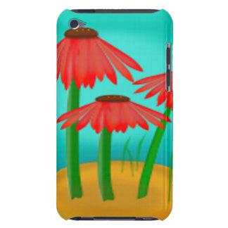 Röd kotteblommaplats Case-Mate iPod touch skydd