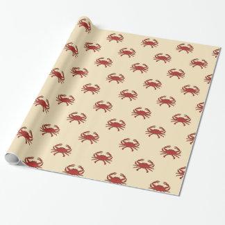 Röd kräm- illustration för nautisk krabba presentpapper