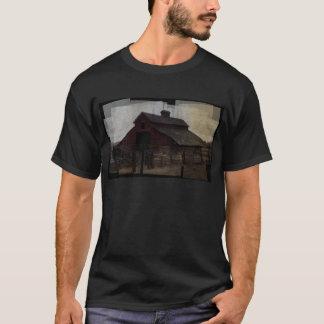 Röd ladugård t-shirt