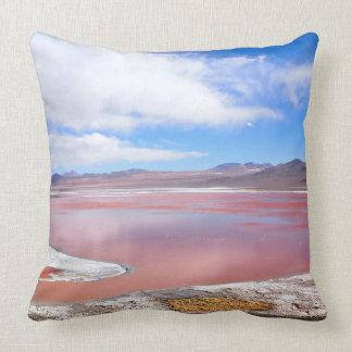 Röd lagun, Laguna Colorada, Bolivia dekorativ Kudde