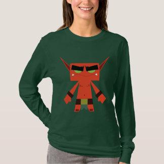 röd långärmadt-skjorta för ond älva tröja