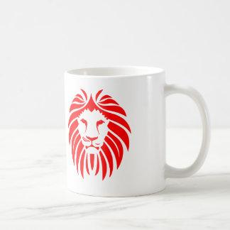 Röd lejon Mane - vitkaffemugg Kaffemugg