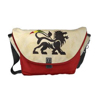 Röd lejon messenger bag