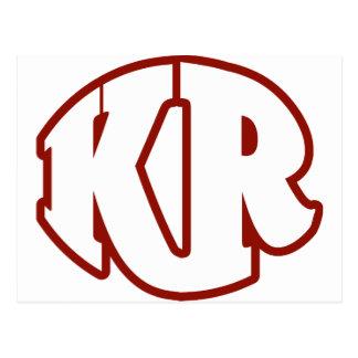 Röd logotyp #2 för mördare vykort