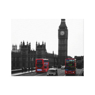 Röd London buss & stora Ben, United Kingdom Canvastryck