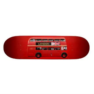Röd London dubbel däckarebuss Skateboard Bräda 20,5 Cm