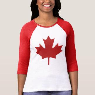 Röd lönnlöv t-shirt